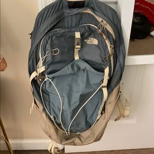 Unique colored North Face backpack.